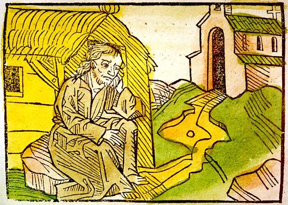 Holzschnitt im Pilgertraktat 1487
